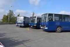 Día abierto del público en el garaje de 40 años Cinkota IX del autobús Fotos de archivo libres de regalías