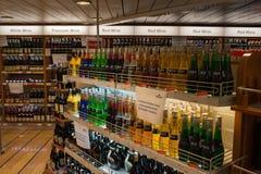 Día abierto en el alcohol de Stena del transbordador. Imagen de archivo