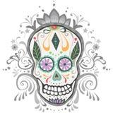 Día adornado del cráneo muerto del azúcar