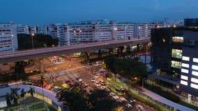 Día al lapso de tiempo del tráfico de la noche, 4k metrajes
