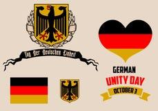 Día alemán de la unidad Imagenes de archivo
