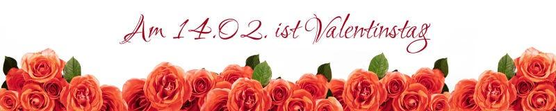 Día alemán del ` s de la tarjeta del día de San Valentín Imágenes de archivo libres de regalías
