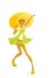 Día asoleado, muchacha asoleada libre illustration