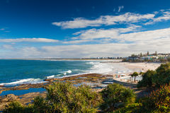 Día caliente en reyes Beach Calundra, Queensland, Australia Foto de archivo libre de regalías