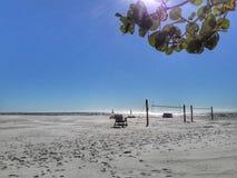 Día claro en la playa Foto de archivo