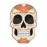 Día coloreado de Sugar Skull muerto con el ornamento libre illustration