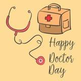 Día común del doctor del estilo de la tarjeta de la colección libre illustration