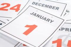 Día de Año Nuevo del calendario Imagen de archivo