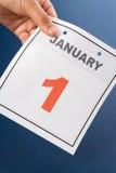 Día de Año Nuevo del calendario Fotografía de archivo