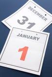 Día de Año Nuevo del calendario Imagen de archivo libre de regalías