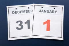 Día de Año Nuevo del calendario Foto de archivo libre de regalías