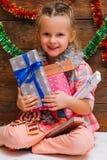Día de año nuevo feliz Todo para la niña Foto de archivo libre de regalías