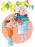 Día de abuela libre illustration