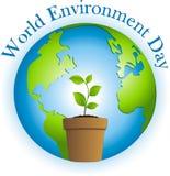 Día de ambiente de mundo stock de ilustración