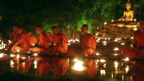 Día de Asalha Bucha, Chiangmai, Tailandia metrajes