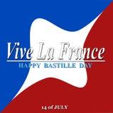 Día de Bastille feliz Imagen de archivo libre de regalías