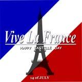 Día de Bastille feliz Imagenes de archivo
