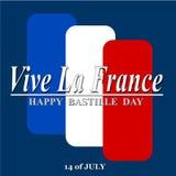 Día de Bastille feliz Fotografía de archivo libre de regalías
