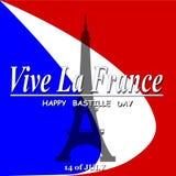 Día de Bastille feliz Fotografía de archivo