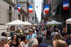 Día de Bastille NYC 2015 6 Fotografía de archivo