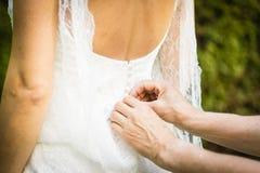 Día de boda del vestido de boda Fotografía de archivo