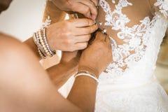 Día de boda del vestido de boda Imágenes de archivo libres de regalías