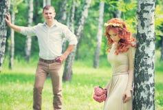 Día de boda feliz Imágenes de archivo libres de regalías
