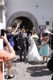 Día de boda Sorrento Italia fotografía de archivo libre de regalías