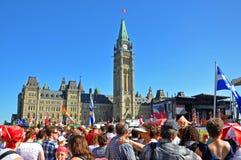 2011 día de Canadá en colina del parlamento, Ottawa, Canadá fotos de archivo