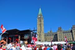 2011 día de Canadá en colina del parlamento, Ottawa, Canadá imágenes de archivo libres de regalías