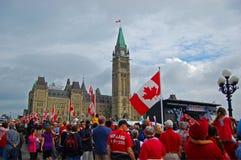 2009 día de Canadá en colina del parlamento, Ottawa, Canadá fotos de archivo