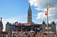 2011 día de Canadá en colina del parlamento, Ottawa, Canadá fotografía de archivo