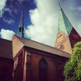Día de Churching imagen de archivo