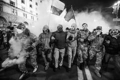 Día de dignidad y de libertad en Ucrania Foto de archivo
