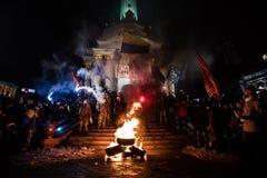 Día de dignidad y de libertad en Ucrania Imagen de archivo