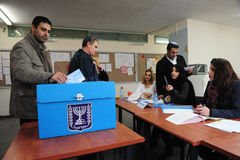 Día de elecciones parlamentarias de Israels imágenes de archivo libres de regalías