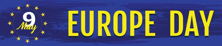 Día de Europa Día festivo anual en mayo stock de ilustración