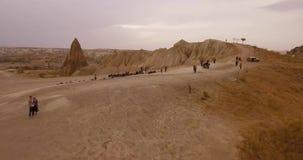 Día de fiesta activo en Cappadocia almacen de metraje de vídeo