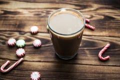 Día de fiesta caliente del caramelo de menta del café Foto de archivo