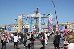 Día de fiesta - día de St Petersburg Fotos de archivo