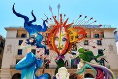 Día de fiesta de Hogueras en la Alicante Fotos de archivo libres de regalías