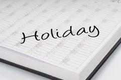 Día de fiesta de la alisadora del calendario Imagenes de archivo