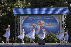 Día de fiesta de la ciudad de Minsk: 945 años, 9 de septiembre de 2012 Imagen de archivo libre de regalías