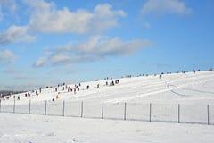 Día de fiesta de la colina de la nieve en diciembre Imágenes de archivo libres de regalías