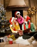 Día de fiesta de la familia Imagen de archivo libre de regalías