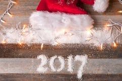 Día de fiesta de la Feliz Año Nuevo 2017 de la decoración de la Navidad Imagen de archivo