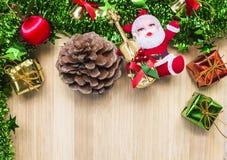 Día de fiesta de la Feliz Año Nuevo de los símbolos de la Navidad Imagenes de archivo