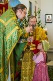 Día de fiesta de la iglesia ortodoxa en Pentecostés domingo en la región de Kaluga en Rusia el 19 de junio de 2016 Foto de archivo