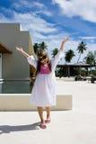 Día de fiesta de la muchacha feliz Imagen de archivo