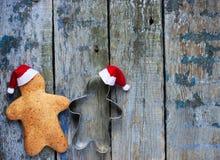 Día de fiesta de la Navidad del hombre de pan de jengibre y del Año Nuevo Fotos de archivo